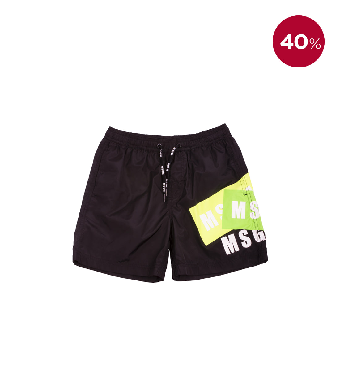 MSGM BERMUDA SWIMWEAR BOY / BLACK